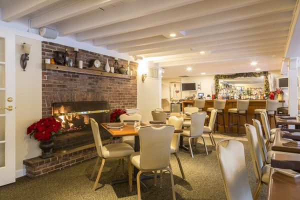 Bradford Tavern Rowley MA bar fireplace seating