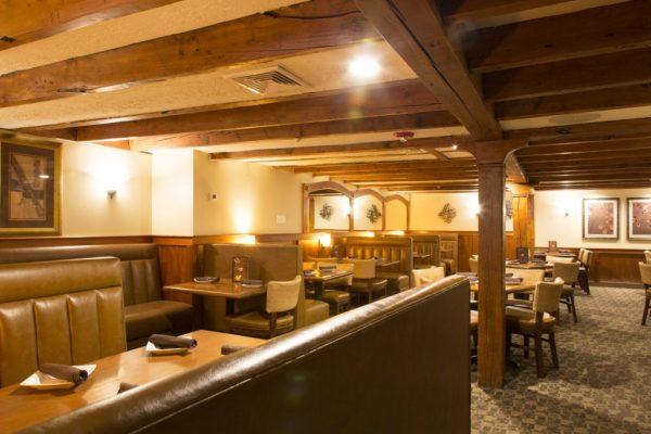 Bradford Tavern Rowley MA booth seating