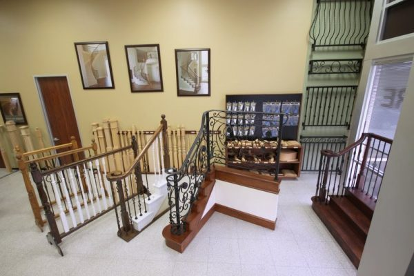 House of Forgings Houston TX staircase display