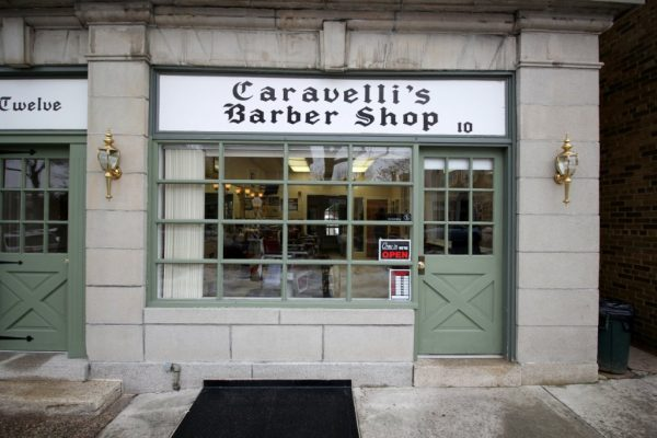 Caravelli Brothers Haddonfield NJ Barber Shop store front
