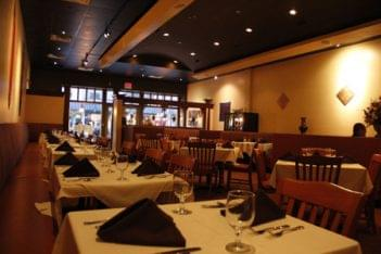 Cross Culture Indian Restaurant Haddonfield NJ table seating