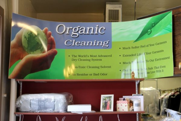 Kings Guard Cleaners dry cleaning Haddonfield NJ store front green organic cleaning sign