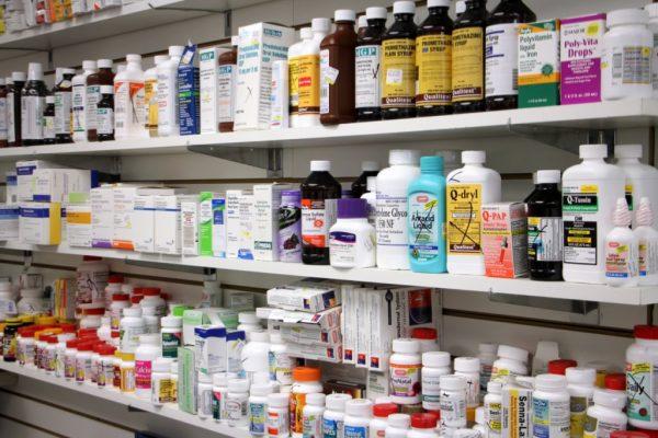 Knights Road Pharmacy Bensalem PA medicine pill bottles on shelves