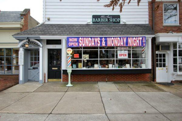 MirAno's Barber Shop Haddonfield NJ store front