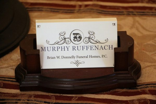 Murphy Ruffenach & Brian W. Donnelly Funeral Homes Philadelphia PA business card