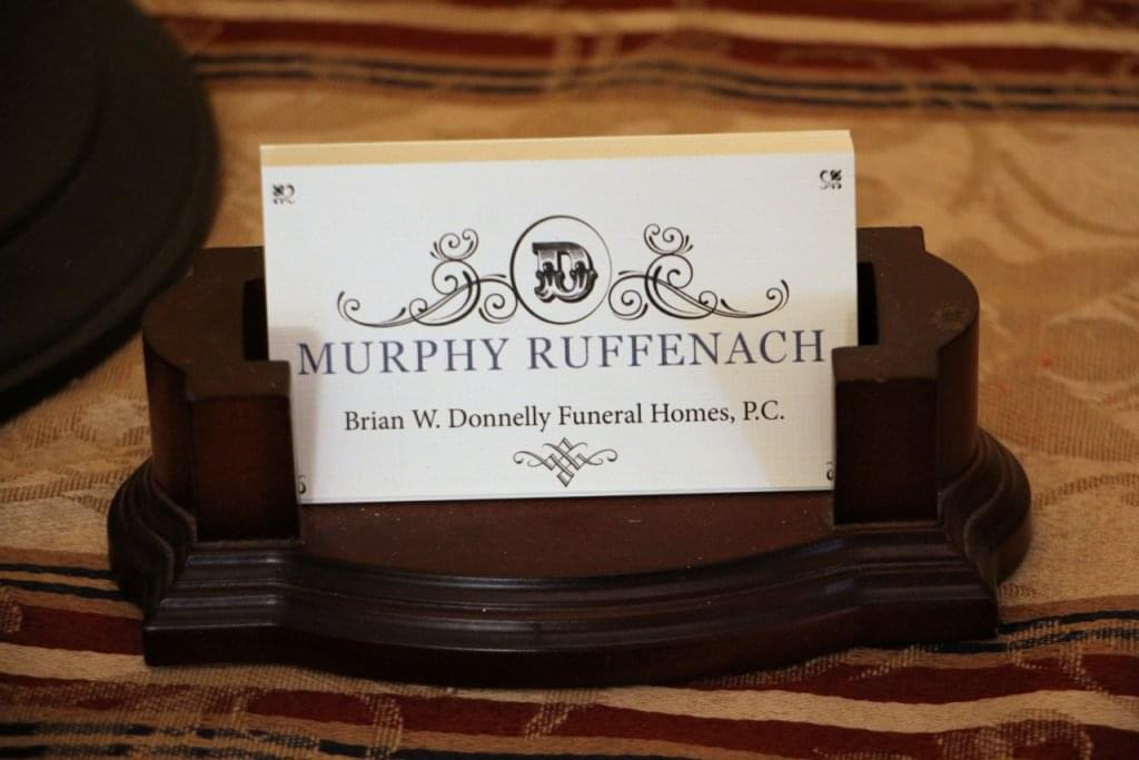 Murphy Ruffenach Brian W Donnelly Funeral Homes Philadelphia PA Business Card