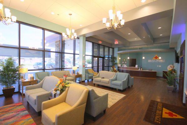 Nutex Health Golden Triangle Emergency Center Orange TX waiting room
