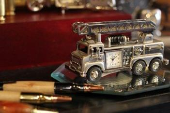 Amixx Boutique Gift Shop Haddonfield NJ minature fire engine clock