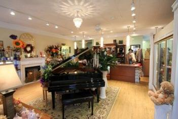 Aster's Floral Shop Westmont NJ baby grand piano