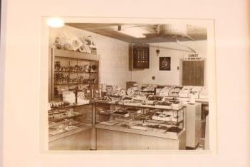 Duffy's Fine Chocolates Haddonfield NJ sepia vintage photograph