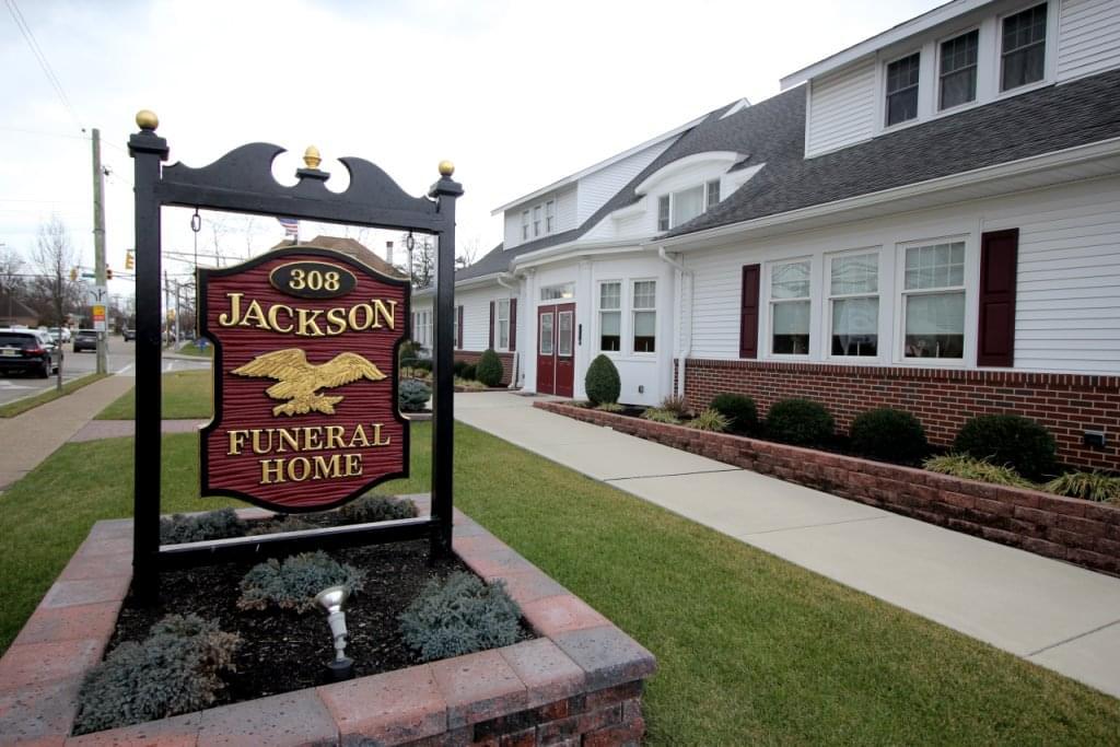 Jackson Funeral Home Haddon Township NJ sign