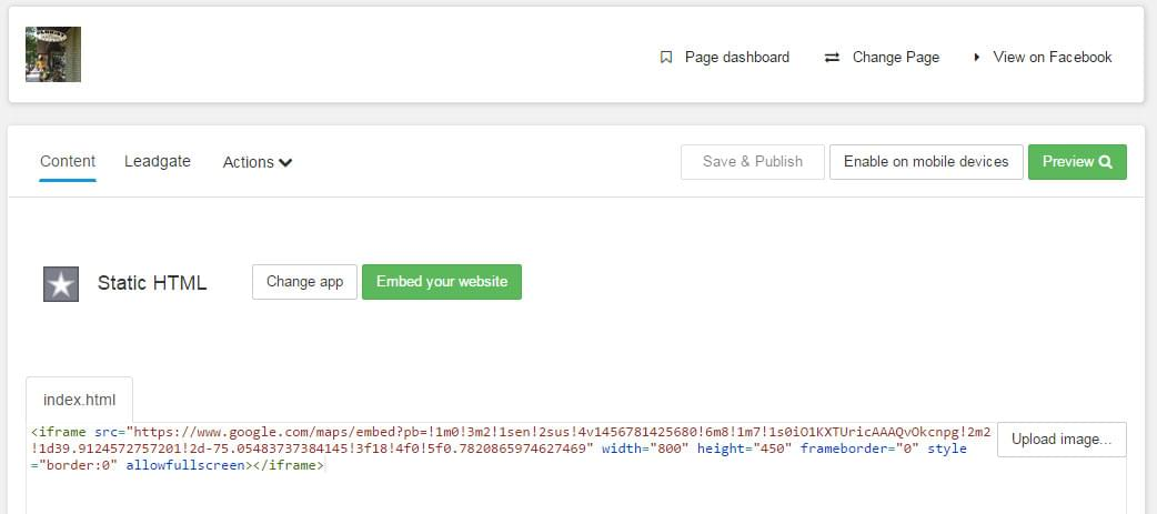 how to embed google street view tour - step 7 - insert embed code