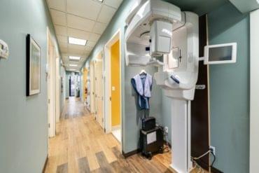 x-ray machine in dental office hallway