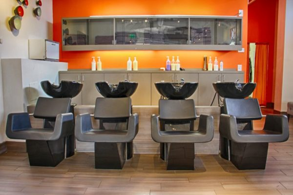 Blaine's Color Dallas TX hair washing chairs stations