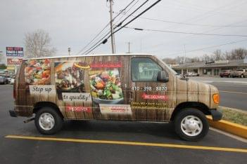 Pats Select Pizza Grill Elkton MD pizza delivery van