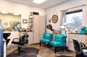 Sola Salon Studios Avondale AZ beauty salon aqua chairs