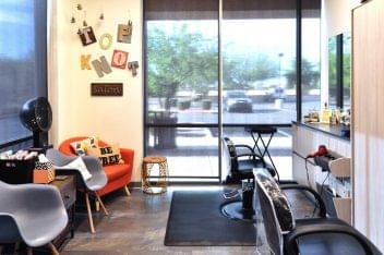 Sola Salon Studios Avondale AZ beauty salon orange chair