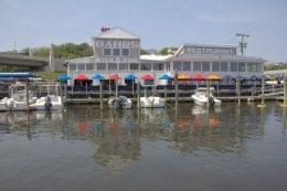 Bahrs Landing Seafood Restaurant & Marina Highlands NJ dock