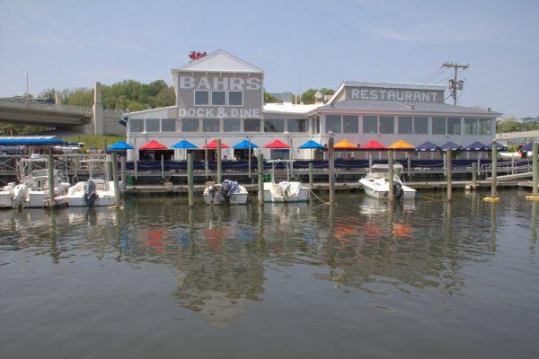 Bahrs Landing Seafood Restaurant & Marina Highlands NJ dock