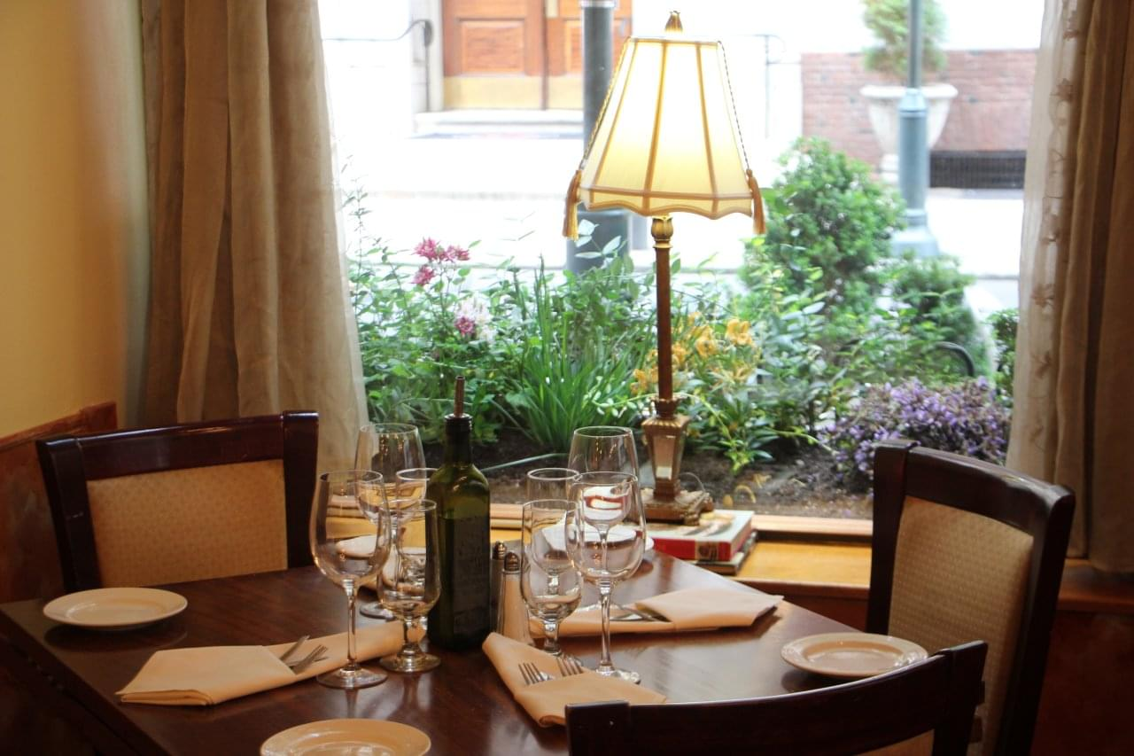 Bellini Grill Italian Restaurant Philadelphia PA window seat
