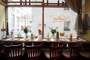 Bellini Grill Italian Restaurant Philadelphia PA window seating