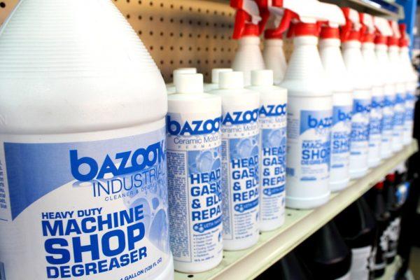 Empresas Velazquez Inc. San Juan, PR wholesaler store front degreaser bottles