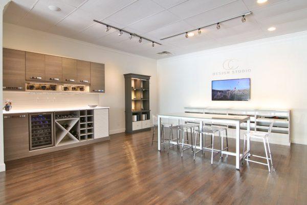 California Closets Ponte Vedra Beach Design studio wine cabinet