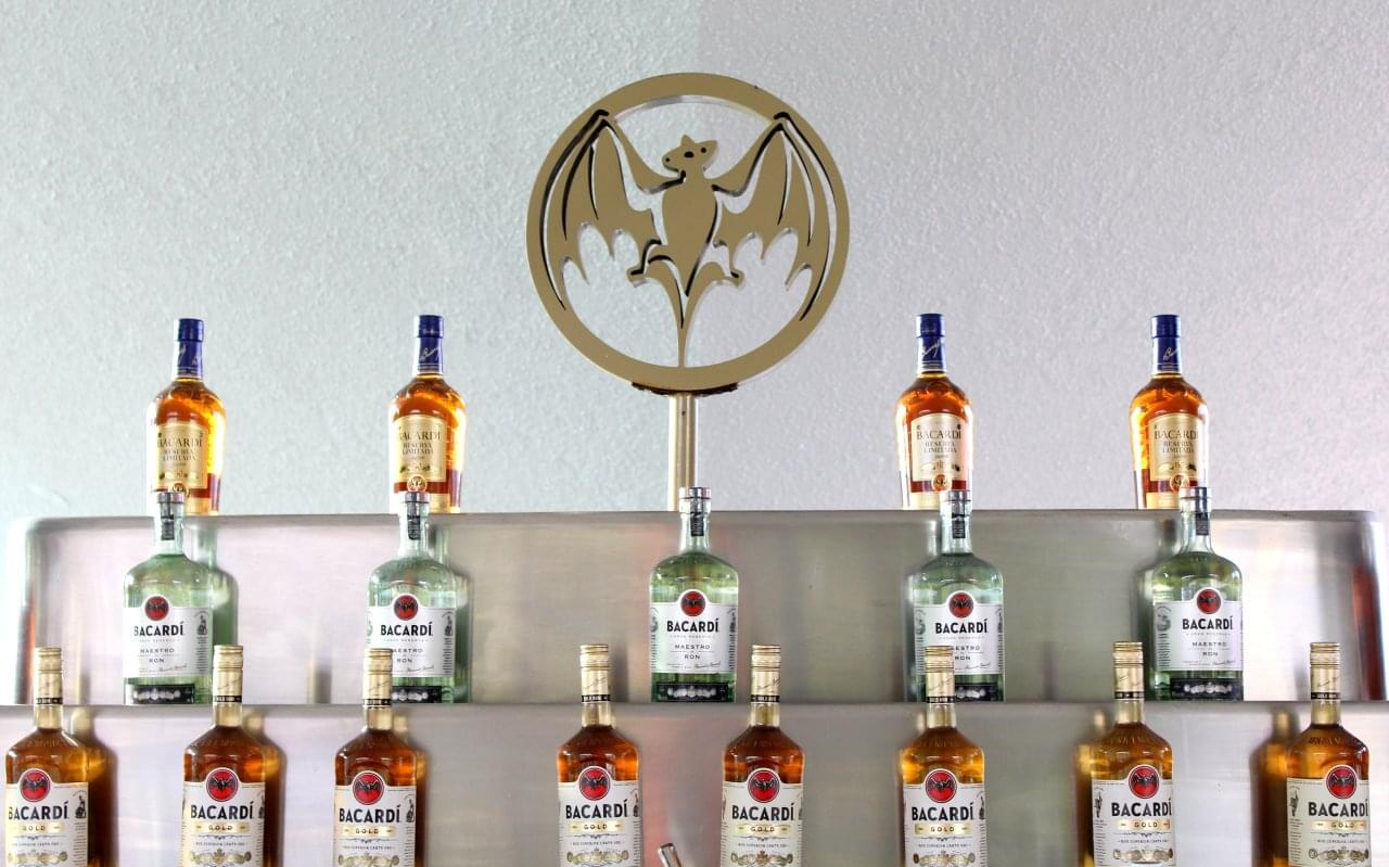 Casa Bacardí Cataño,Puerto Rico bottles of rum on the wall