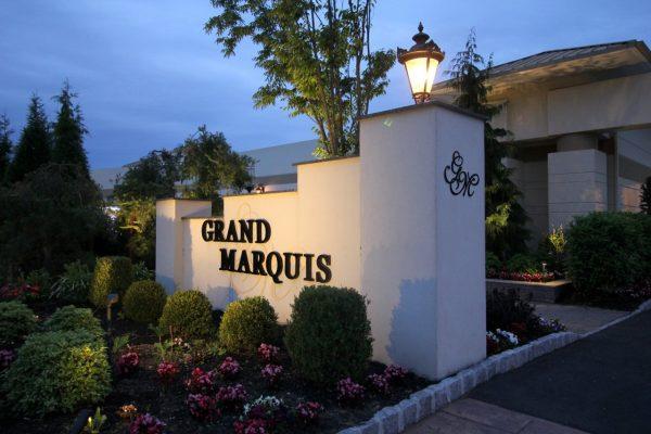 Grand Marquis Wedding Venue Banquet hall gate entrance sign Old Bridge NJ