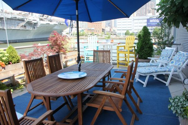 Manhattan Kayak Company Canoe Tour New York, NY patio furniture intrepid battleship pier 84