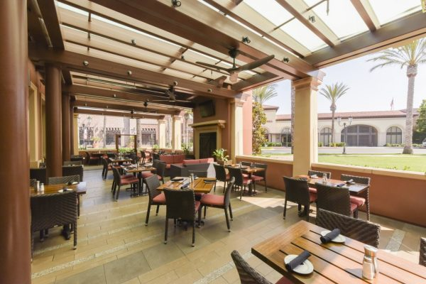 Del Frisco's Grille Irvine CA steak house outdoor patio seating