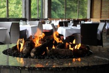 The ChopHouse steak house Gibbsboro NJ outdoor patio fire pit