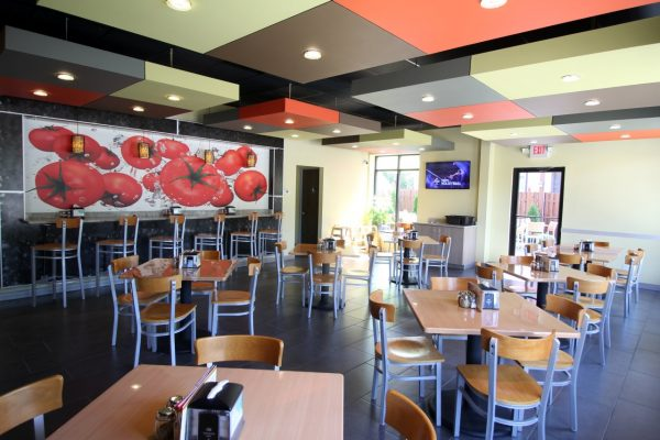 Stella Pizza Collingswood NJ pizzeria seating