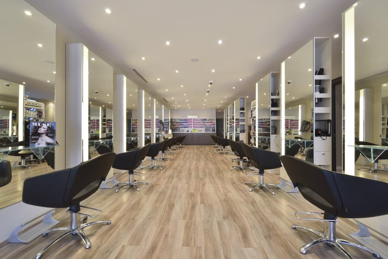 Taz Hair Company Toronto CA hair salon chairs mirrors