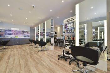 Taz Hair Company Toronto CA hair salon interior