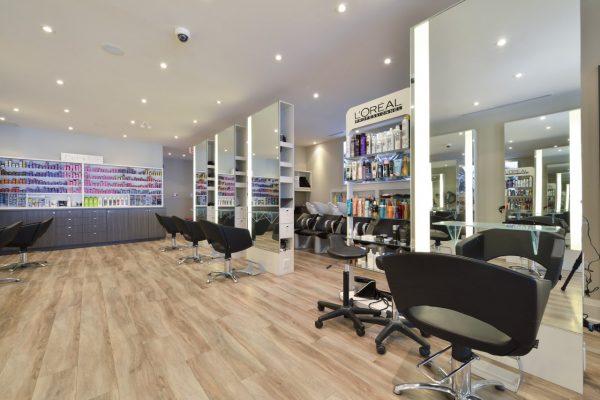 Taz Hair Company Toronto CA hair salon interior