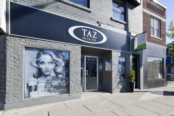 Taz Hair Company Toronto CA hair salon store front