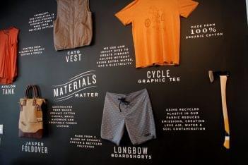 United By Blue Nolita, New York, NY clothing display wall