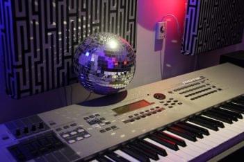 Audemus Enterprises Music Recording Studio Bronx NY keyboard discoball