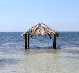 Las Palmas Cafe at Copmarina Guánica, Puerto Rico beach hut