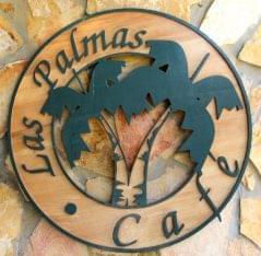 Las Palmas Cafe at Copmarina Guánica, Puerto Rico logo sign