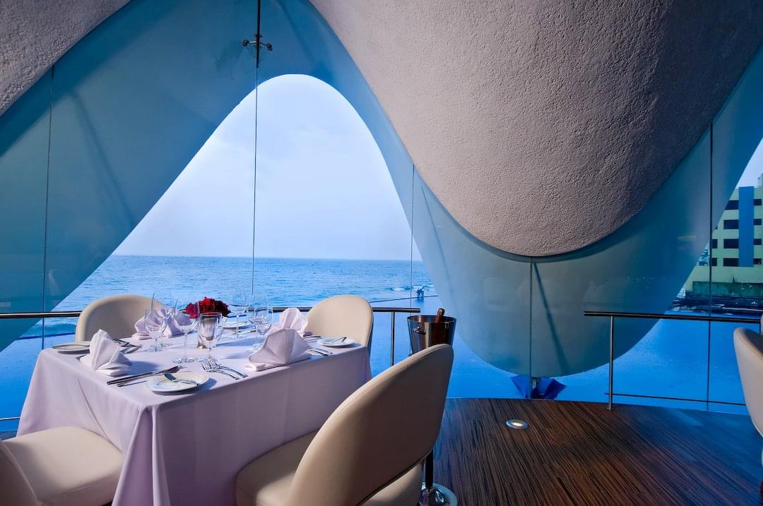 Perla Restaurant San Juan Puerto Rico decor table window seating