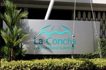 Solera restaurant San Juan Puerto Rico La Concha Renaissance resort sign