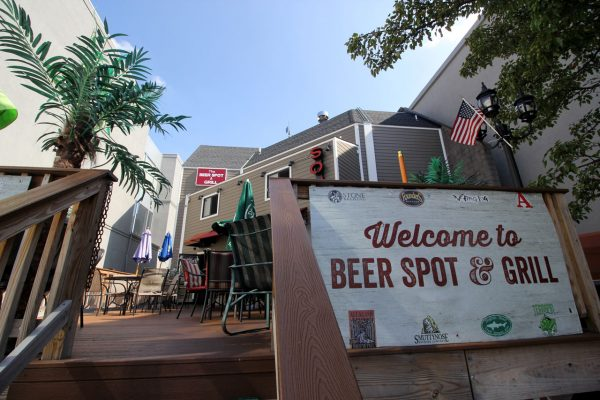 The Beer Spot & Grill Sports Bar Fort Lee NJ outdoor patio sign