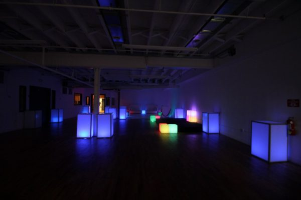 Walnut Loft Uptown Rec Room Bronx NY event space dark lights