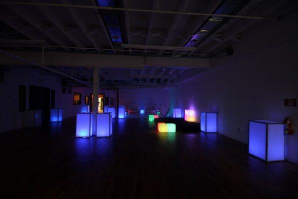 Walnut Loft Uptown Rec Room Bronx NY event space dark lights