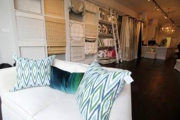 Curtain Works of Greenwich CT Interior Designer sofa