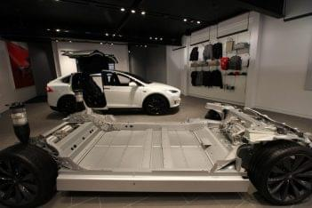 Tesla Greenwich CT car dealer chassis