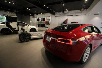 Tesla Greenwich CT car dealer red Model S