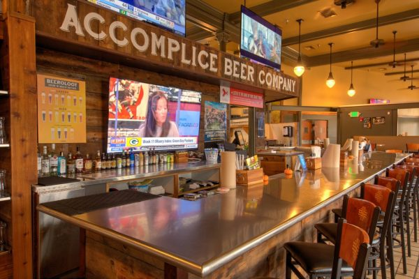 Accomplice Beer Company Cheyenne, WY brewery bar counter